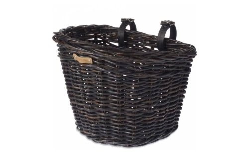 Basil košík na kolo Darcy ratanový velký - černý